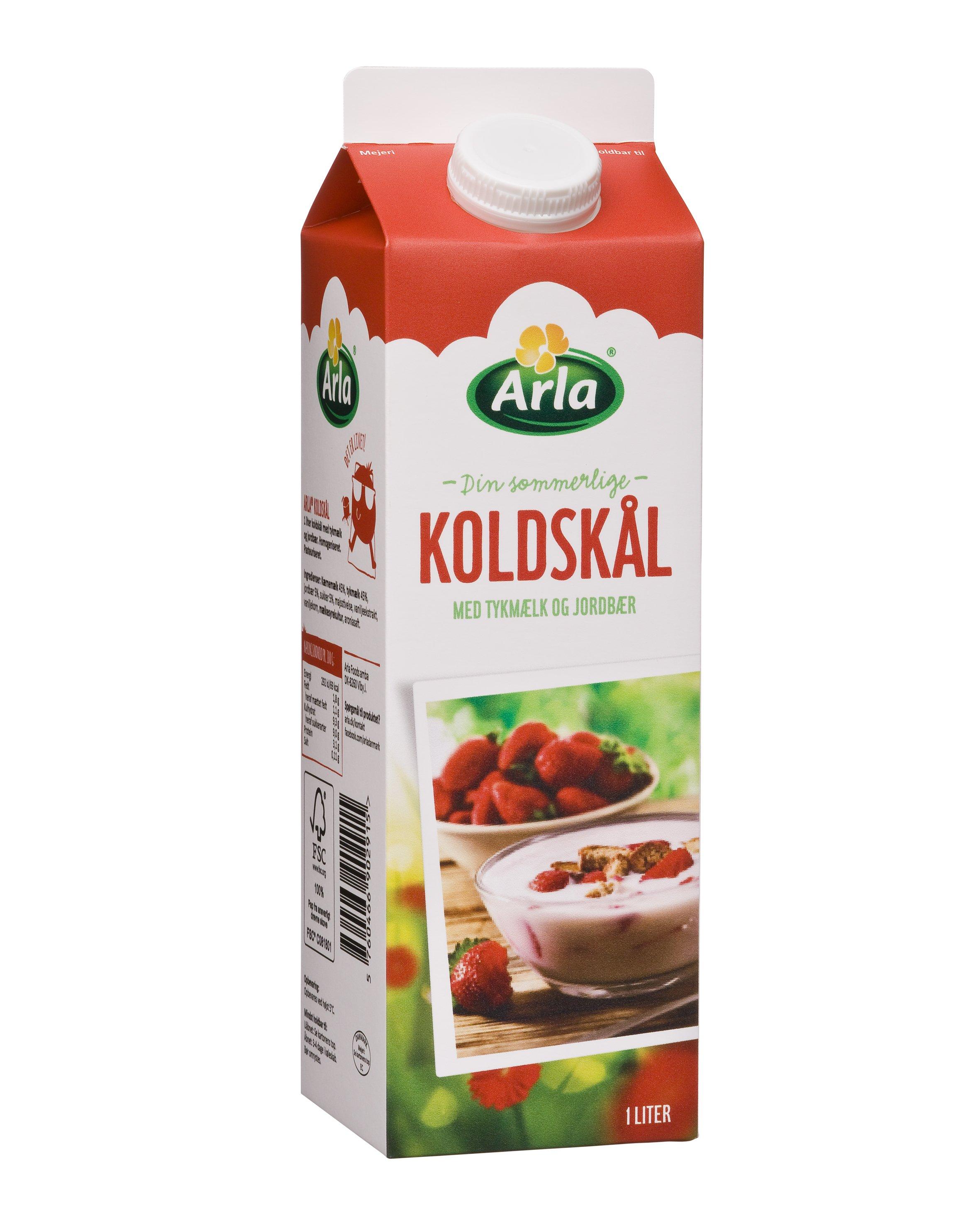 Koldskål med tykmælk & jordbær 1,8%