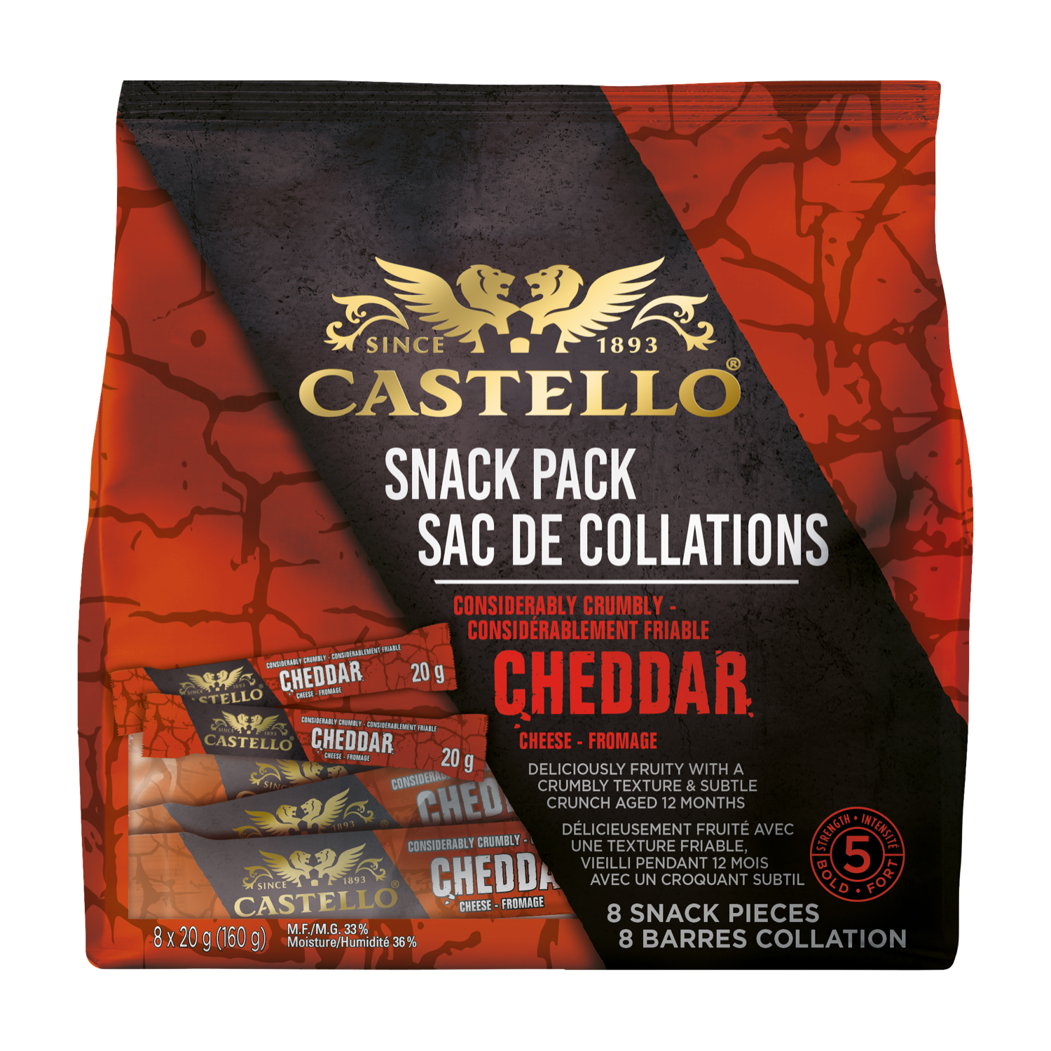 Castello® Considerably Crumbly Cheddar Snack Pack
