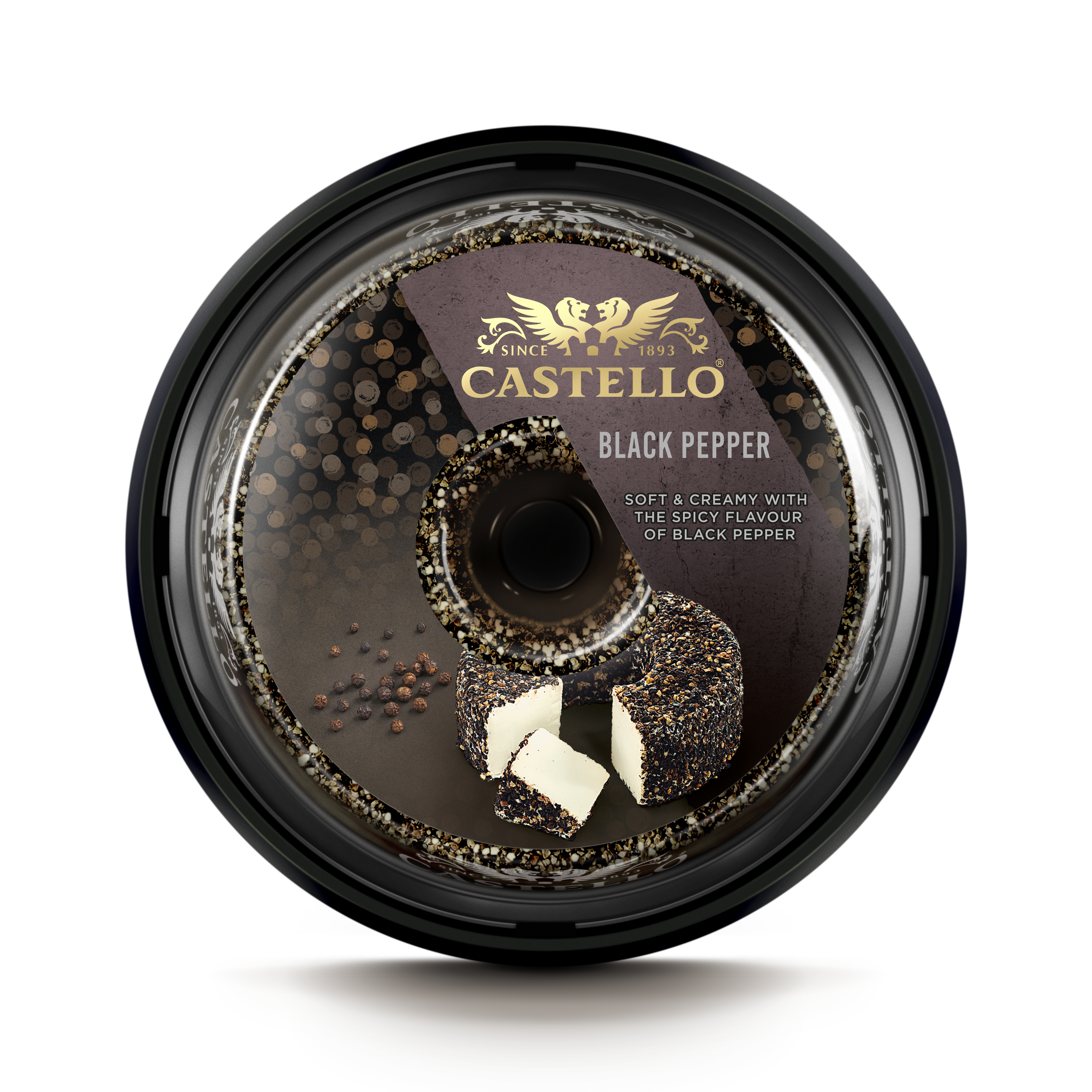 Castello® Black Pepper Halo Cream Cheese
