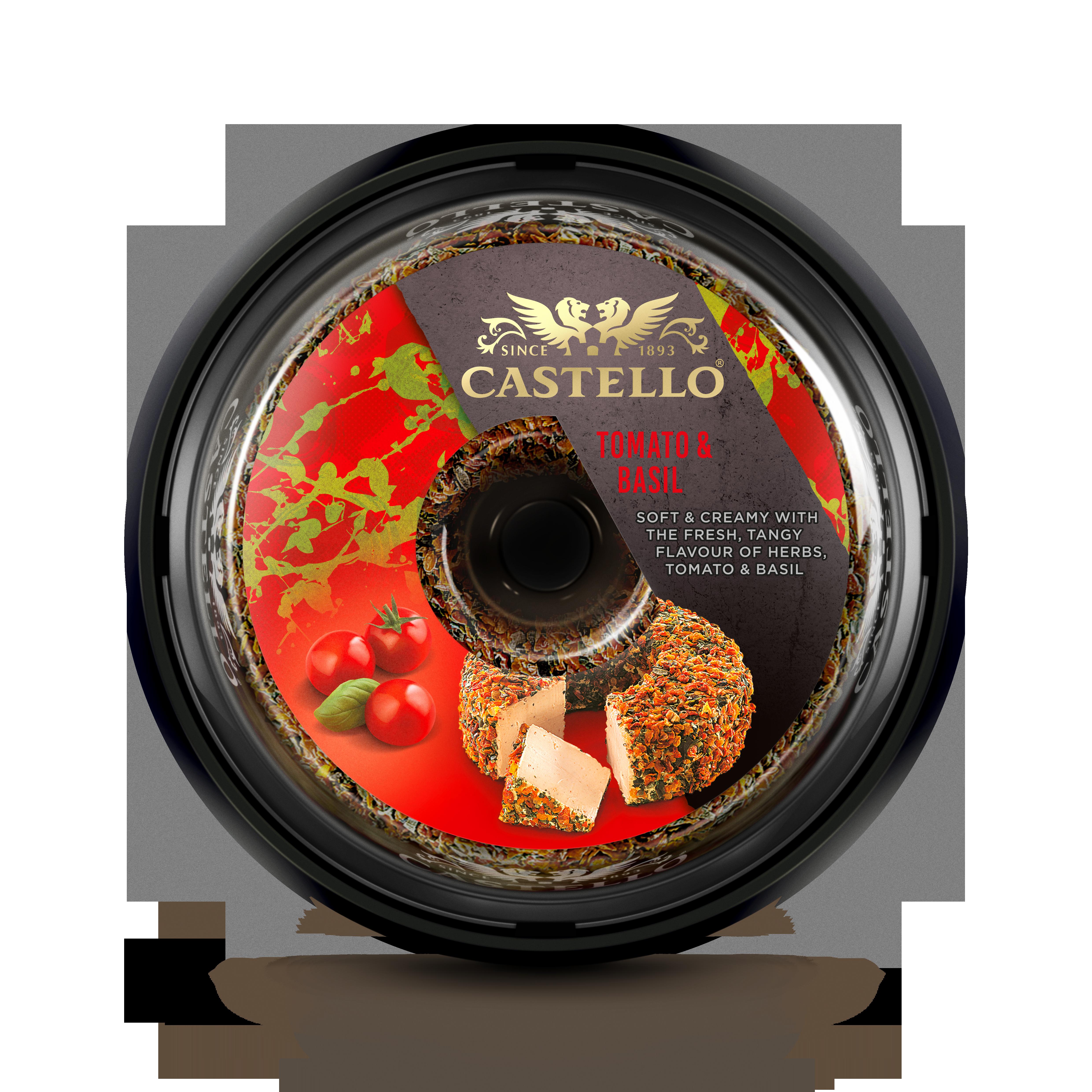 Castello® Flødeost med tomat og basilikum