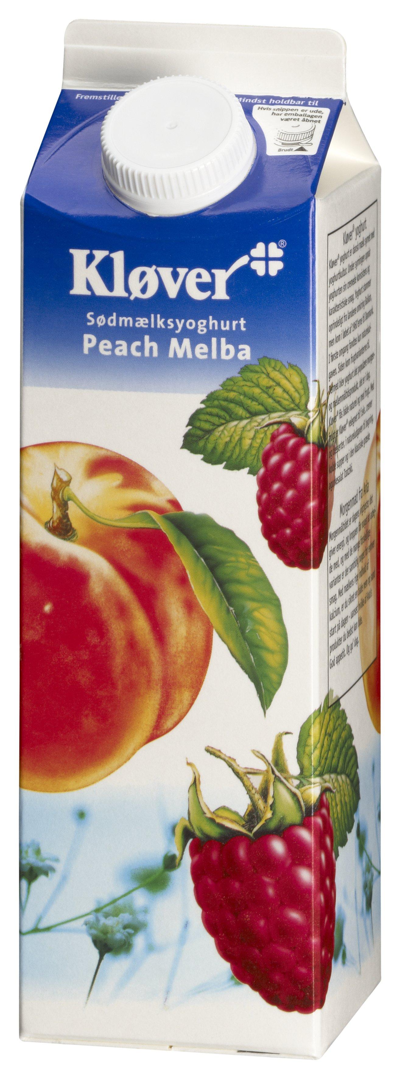 Kløver® Yoghurt peach/melba 3,1% 1000 g